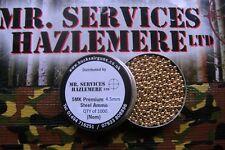 Pot of 1000 SMK 177 - 4.5mm Cal BB STEEL - GOLD  BB's PELLETS AIR RIFLE PISTOL