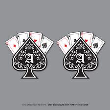 2 x Ace Of Spades Cards Stickers - Car Laptop Macbook Decals Sticker - 2808