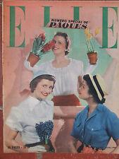 ELLE n°175 (4 avril 1949Numéro spécial de Pâques - Comment j'ai adopté un enfant