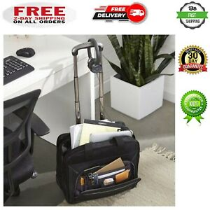 "Rolling Laptop Case for Women Bag Briefcase Black Wheeled Computer 17 "" Travel"