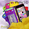 Photo ID Wallet Flip Leather Case Cover For iPhone 5c 5 c + Screen G Stand Card