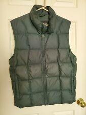 Vintage Eddie Bauer Down Vest. Green Small