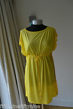 NEW AUTHENTIC MELISSA ODABASH YELLOW  KAFTAN / DRESS SIZE SMALL
