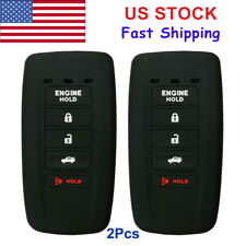 2Pcs Key Fob Remote Cover Case For 2017 ACURA MDX RLX RDX ILX Engine Hold 5Btn