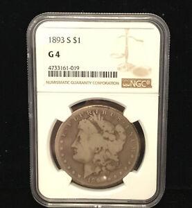 1893-S  Morgan Silver Dollar NGC G-4