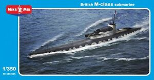 Mikro-mir 350-025 - 1/350 British M-class Submarine, scale plastic model kit