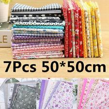 50*50cm Fat Quarter Fabric Bundle 100% Cotton Quilting Patchwork Mixed Craft Uk