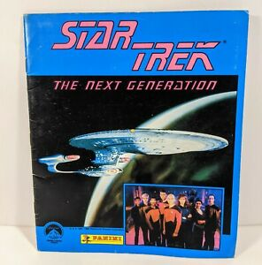 1987 Star Trek The Next Generation Album Book Complete With Stickers by Panini