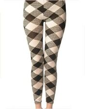 Ladies/Womens Black and White large Diamond patterned leggings
