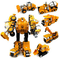Deformation Engineering Car Rotatable Robot Action Figure Kids Puzzle Toy Gift