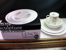 Lenox Entertain 365 SCULPTURE 4 Piece Place Setting NIB Item 4161