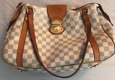 Pre-Owned Louis Vuitton LV Damier Azur Stresa MM Medium Shoulder Bag!