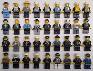 5 LEGO POLICE SWAT MINIFIGS FIGURES LOT town city service random w/ accessories