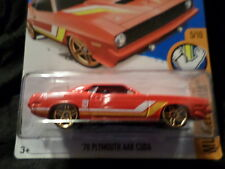 HW HOT WHEELS 2016 HW MUSCLE MANIA #5/10 70 PLYMOUTH AAR CUDA HOTWHEELS RED VHTF