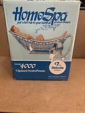 Vtg Homespa Model 4000 Hydro Powered Personal Bathtub Whirlpool Spa Opened Box