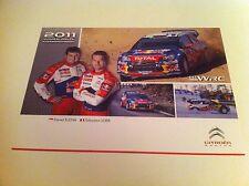 CP POSTCARD CARTOLINA CITROEN DS3 WRC LOEB RALLY WRC RALLYE 2011