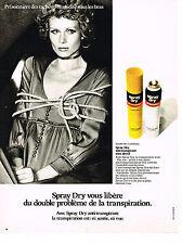 PUBLICITE ADVERTISING 0314   1971   SPRAY DRY   anti-transpirant