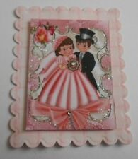 PACK 3 ROSES WEDDING DAY EMBELLISHMENT TOPPERS FOR CARDS AND CRAFTS