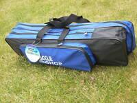 "FISHING TACKLE BAG 24""  X 6""  X  6"" Chairs Beds Reels Hooks Carp Picnic Travel"