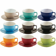 Large 15oz 426ml Tea Cup And Saucer Sets Stoneware Cappuccino Coffee Mugs Plate