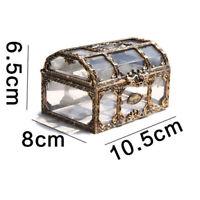 1pc Treasure Box Transparent Plastic Treasure Chest for Crystal Collectibles Gem