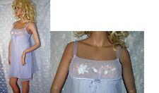 New listing Vtg Aristocraft Embroidered Chiffon Nightie Nightgown Medium