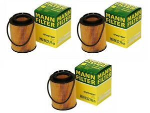 OEM Mann Set of 3 Engine Oil Filters HU 932/6 N For Audi A8 Q7 Porsche Cayenne