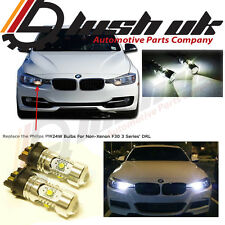 DRL LIGHT LAMP DAYTIME RUNNING LIGHT UPGRADE PW24W 30W CREE WHITE CANBUS BULBS