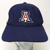 Sports Specialties NCAA University of Arizona Baseball Cap Hat Blue Strap Back