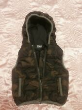 Babies girls boys 0-3 months hoodie waistcoat Camouflage VEST WITH HOOD by F&F