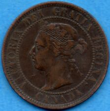 Canada 1901 1 Cent One Large Cent Coin - Very Fine