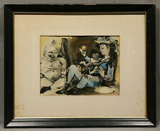 "Offset Signed Lithograph ""Style Of"" or Attrib. to Pablo Picasso Woman and Monkey"