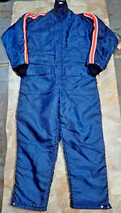 Vintage Montgomery Ward Quilted Insulated Winter Field Snow Suit Coverall Mens M