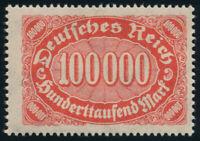 DR 1923, MiNr. 257 II, tadellos postfrisch, gepr. Infla-Berlin, Mi. 130,-
