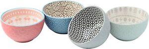 Signature Housewares Pad Print Bowls, Set of 4 (04725)
