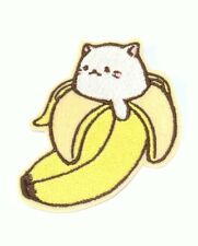 Bananya banana cat embroidered iron on patch 85mm x 70mm
