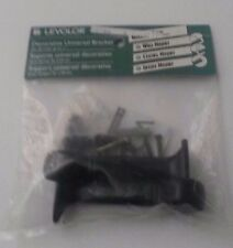 """Levolor Decorative Universal Black Brackets for up to 1"""" rods ~ Wall / Ceiling"""