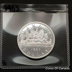 1963 Canada $1 Silver Dollar UNCIRCULATED Coin - Beautiful Coin! #coinsofcanada