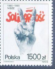 POLAND STAMPS MNH Fi3133 Sc2982 Mi3281 - Solidarnosc, 1990, **