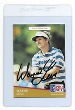 WAYNE LEVI Signed 1991 PRO SET Golf Card #283 PGA Tour Ryder Cup New York Oswego