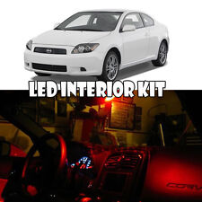For 05-10 Scion tC RED LED Interior Full Kit Map Dome Trunk Plate Reverse 9PC