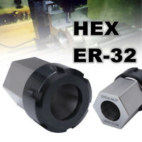 ER-32 Hex Collet Block Spring Chuck Collet Holder For Lathe Engraving Machine