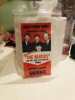 1964 Beatles Hollywood Bowl After Show Guest Pass