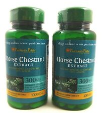 2X Horse Chestnut Standardized Extract 300 mg 100 Caplets Varicose Spider Veins