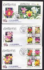 Philippines 1996 Orchids FLOWERS Catleyas  8v + S/S  on 3 First Day cover