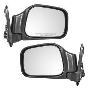 New Pair Power Side Mirror Glass Housing for Honda Isuzu Rodeo Amigo Passport