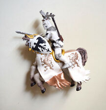 Papo Word of Knights Tournament White Armor Knight With White Horse Figurine