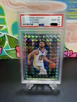 2019-20 Panini Mosaic Stained Glass #1 Stephen Curry Warriors PSA 10 GEM MINT