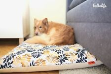 Dog and cat waterproof pillow - Leaves, luxury dog sleeping, pet bed,dog bed