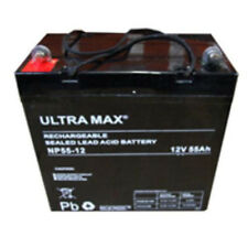 2 x Ultra Max 12V 55Ah AGM pride JAZZY 1121 powerchair PER SCOOTER BATTERIA